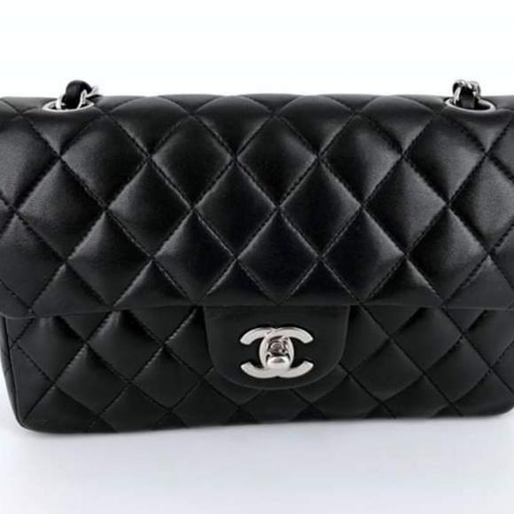 CHANEL Handbags - Chanel small classic flap lambskin with SHW 5fb3b3066f058